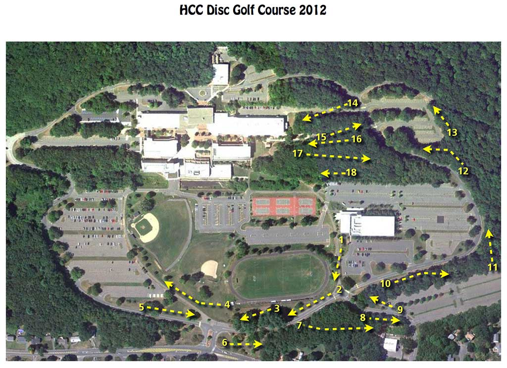 Holyoke Community College Campus Map.Hcc Disc Golf Course Professional Disc Golf Association