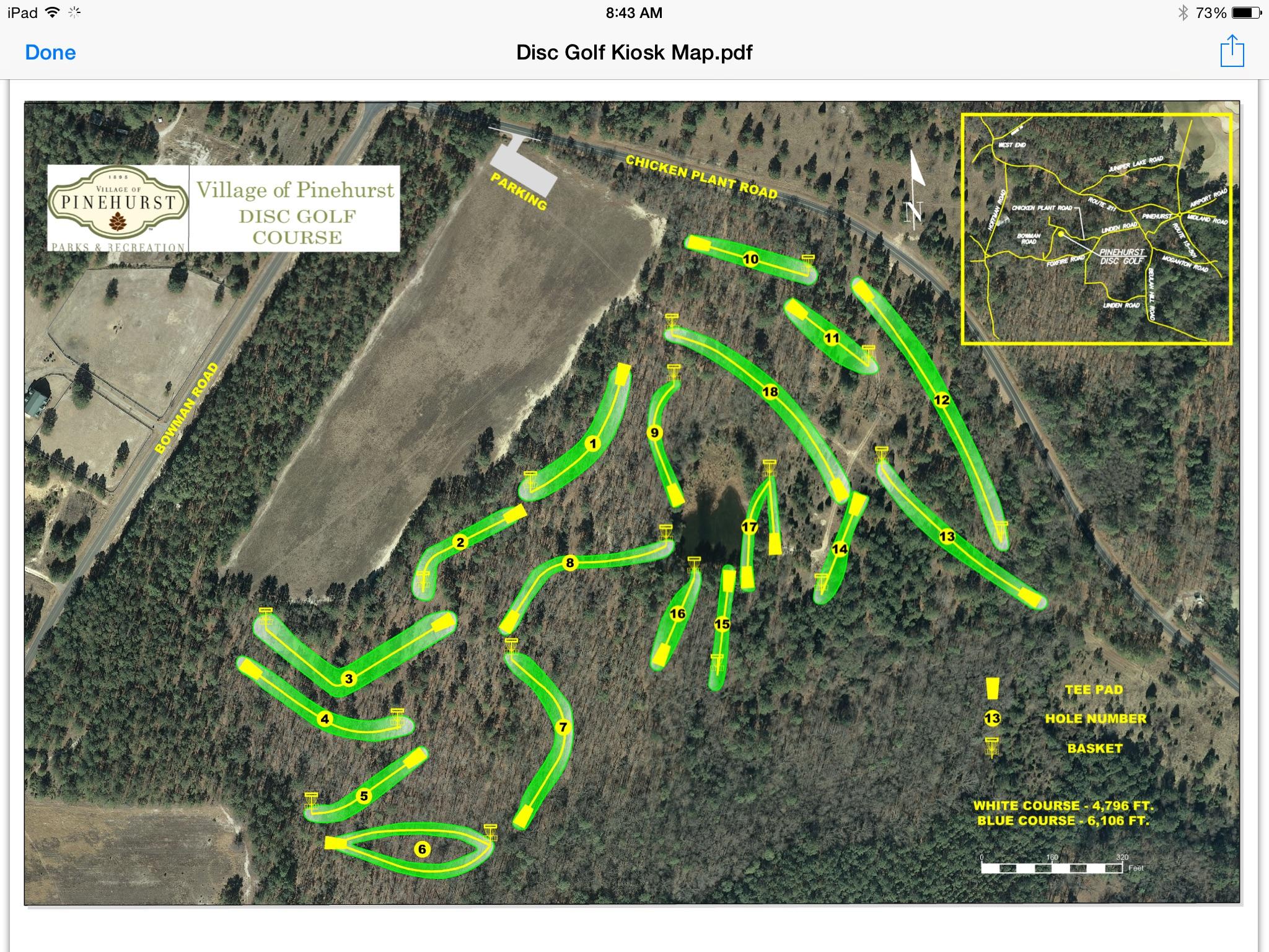 village of pinehurst disc golf course