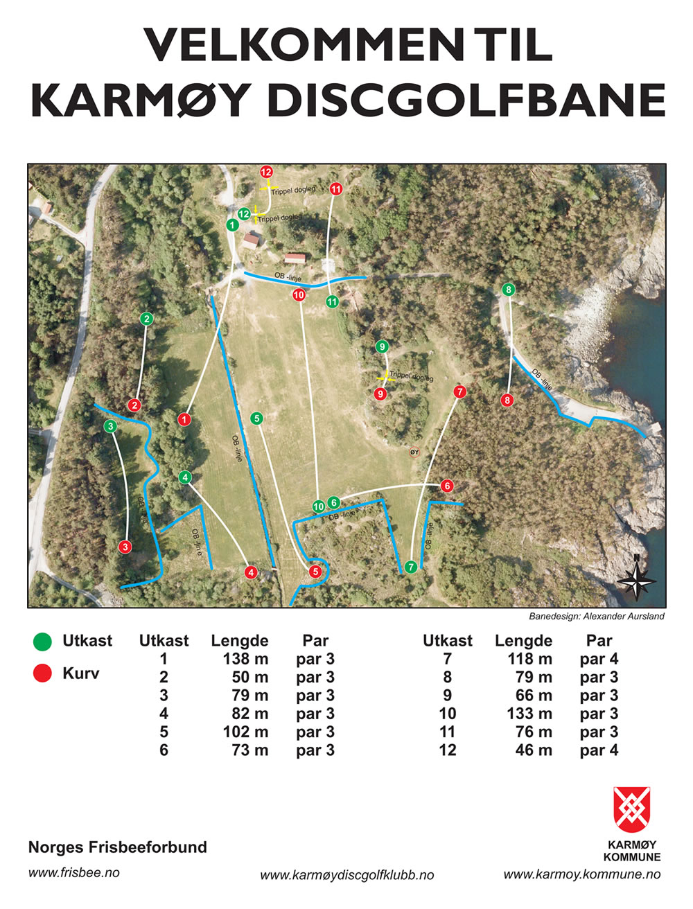 Karmøy Discgolfbane Professional Disc Golf Association - Karmoy norway map