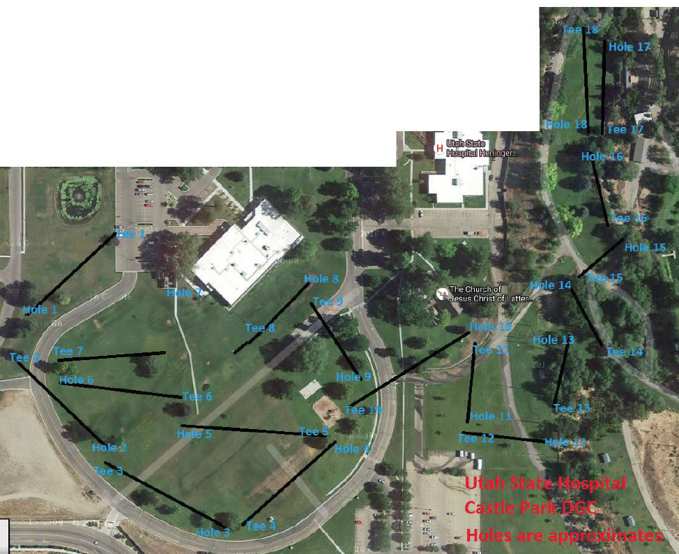 Utah State Hospital Disc Golf Course | Professional Disc Golf ...