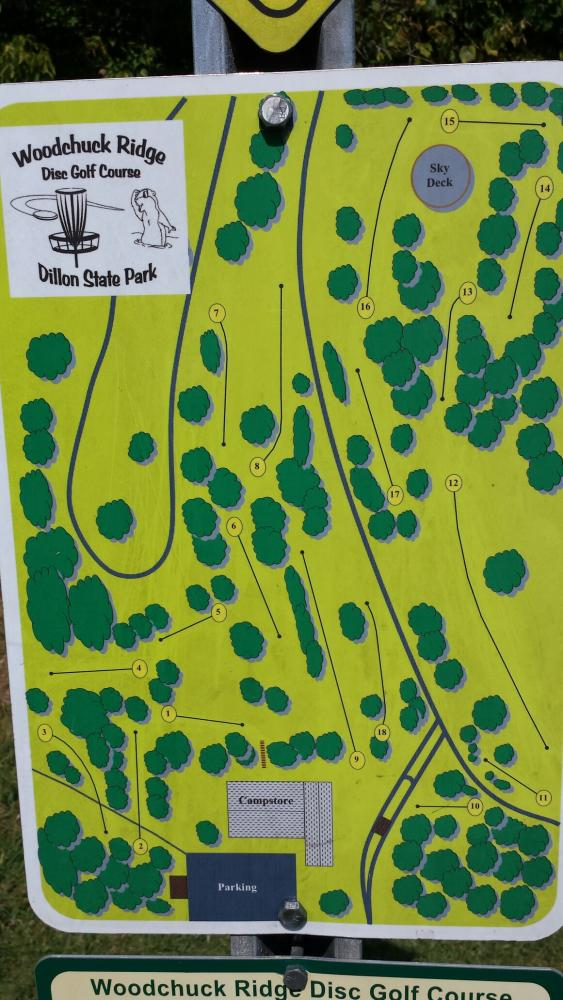 Woodchuck Ridge Disc Golf Course at Dillon State Park