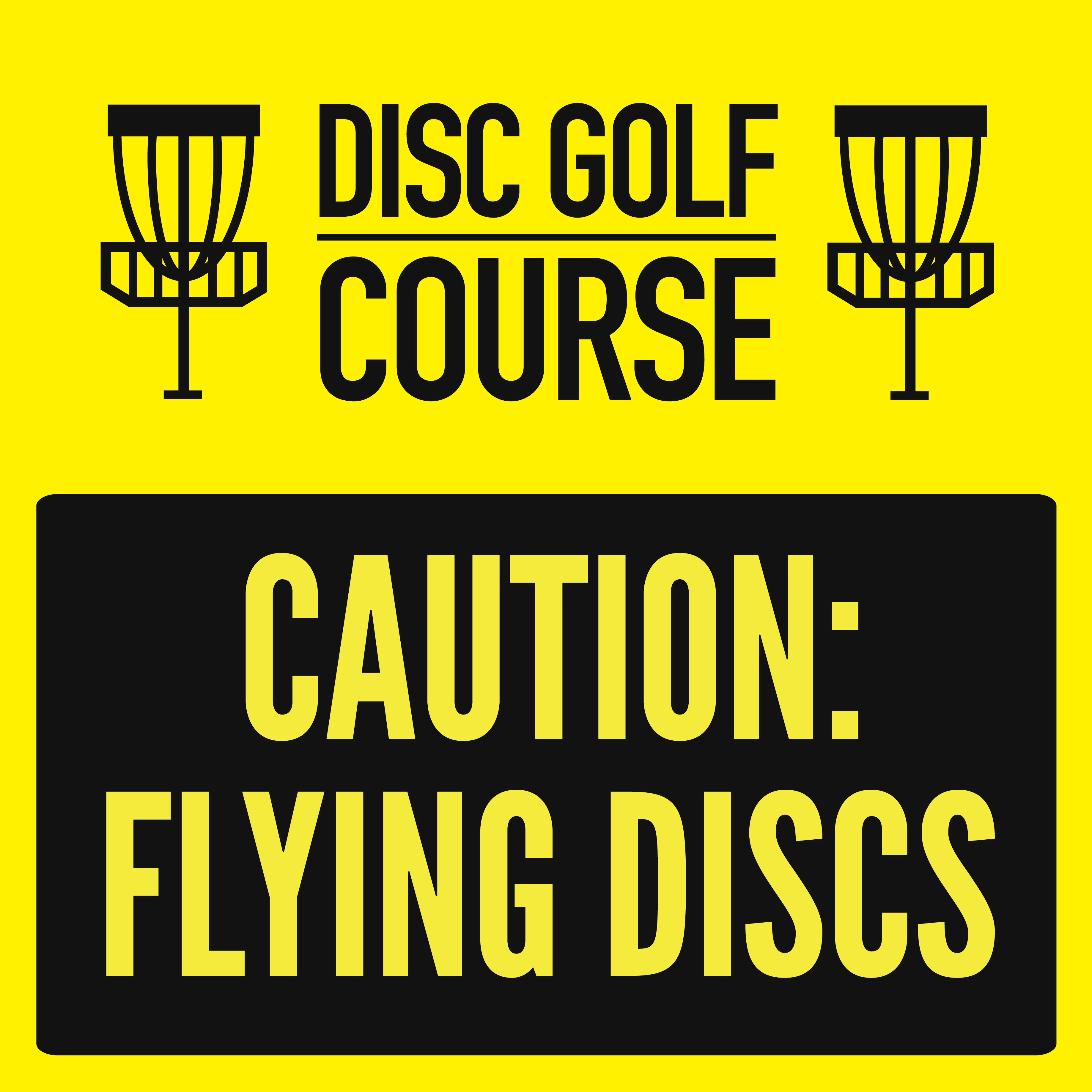 Tee Signs - Disc Golf Course Review  |Frisbee Golf Sign