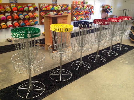 National Collegiate Disc Golf Championships Championship Baskets by Innova Disc Golf
