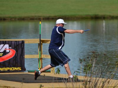 Josh Anthon teeing off on 18 at the 2012 USDGC